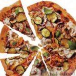 Мини-пиццы с кабачками-цуккини и крабами Пицца