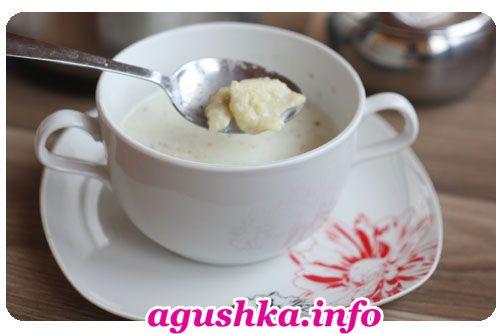 Молочный суп с клецками из ячменной муки