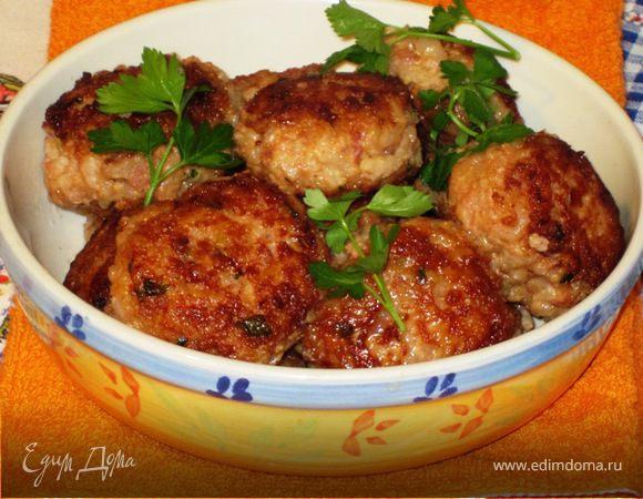 Мясные биточки с рисом Русская кухня