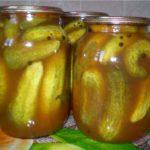Огурцы, консервированные в томатном соусе Заготовки, консервирование