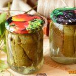 Огурцы, консервированные в виноградных листьях Заготовки, консервирование