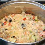 Овощи в сметане Из овощей