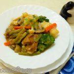 Овощное рагу со свиными ребрышками Блюда из мяса Вторые блюда
