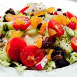 Овощной салат с сухофруктами Салаты