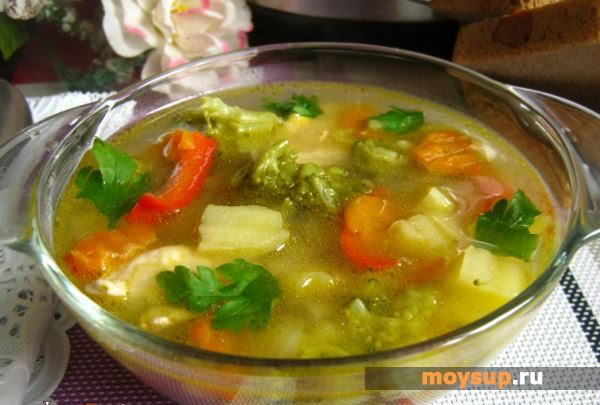 Овощной суп с брокколи Супы