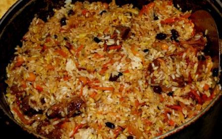Палау по-казахски Вторые блюда Пловы