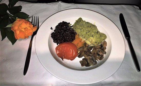 Палтус с сельдереем и шампиньонами Блюда из рыбы Вторые блюда
