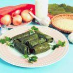 Пасуп толма (голубцы из виноградных листьев  с начинкой из бобовых и сухофруктов) Армянская кухня