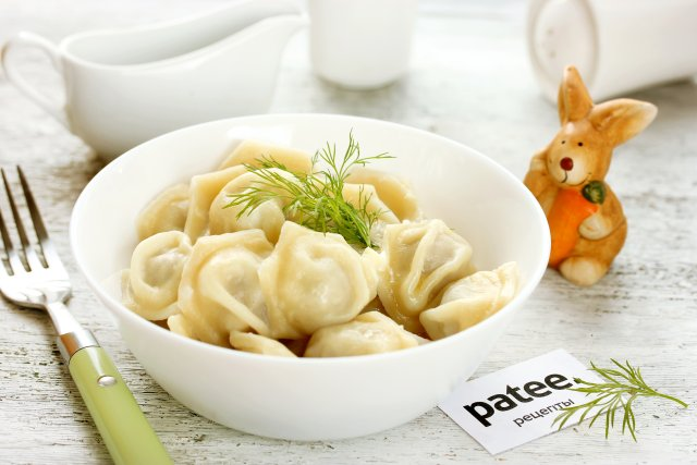 Пельмени с начинкой из крольчатины Вторые блюда Пельмени