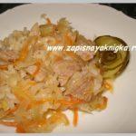 Пельмени с начинкой из квашеной капусты и риса Вторые блюда Пельмени