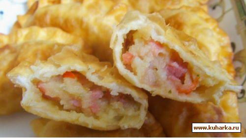 Пельмени с начинкой из помидоров и сыра Вторые блюда Пельмени