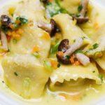 Пельмени с начинкой из соленых грибов Вторые блюда Пельмени