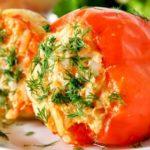 Перец, фаршированный овощами Из овощей Перец