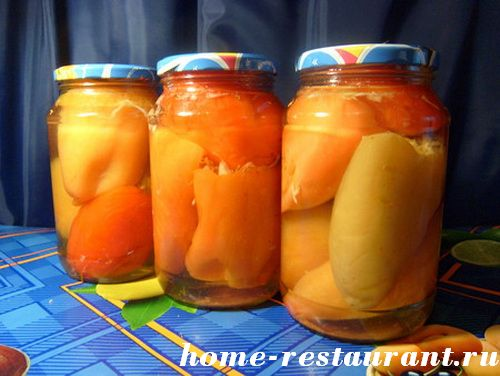 Перец, консервированный с овощами Заготовки, консервирование