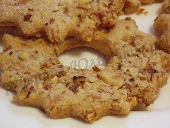 Песочное печенье с орехами Выпечка Пироги