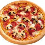 Пицца с шампиньонами и сыром Пицца