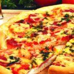 Пицца с сырокопченой колбасой Пицца
