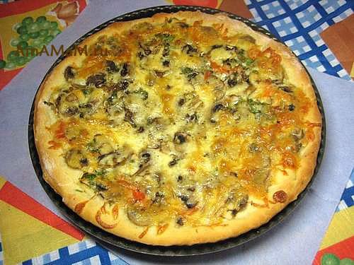 Пицца хлебная с сыром Пицца
