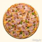 Пицца «Золотой дракон» с креветками и рисом Пицца