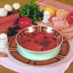 Пикантный суп с осетриной Супы
