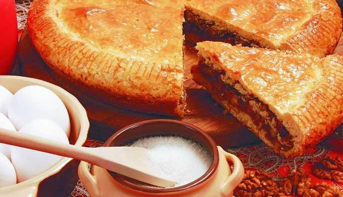 Пирог с ореховой начинкой «Графский»