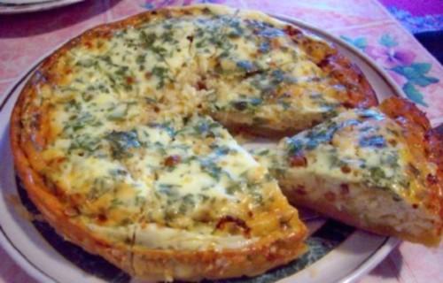 Пирог с салом Украинская кухня