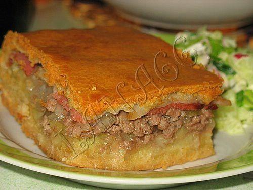 Пирог слоеный с мясом (Тунис) Африканская кухня