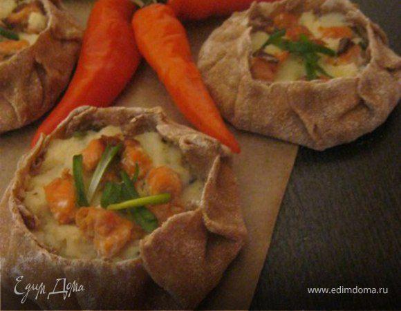 Пирожки с картофелем и рыбой