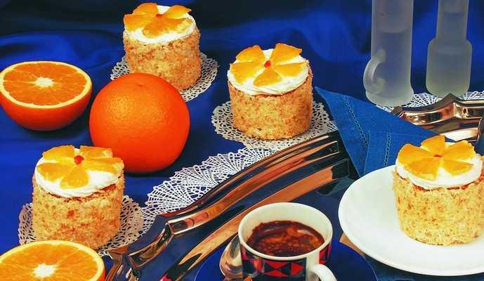 Пирожное «Спелый апельсин» Выпечка Пирожные