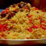Плов из баранины с гранатовым соком Узбекская кухня