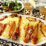 Плов из индейки по-азербайджански Вторые блюда Пловы