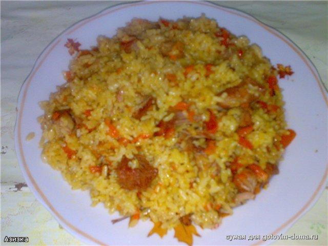 Плов по-таджикски Вторые блюда Пловы