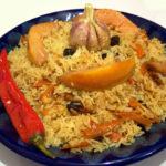 Плов с айвой и барбарисом Азербайджанская кухня