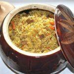 Плов с бараниной или говядиной, запеченный в горшочке Вторые блюда Пловы
