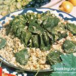 Плов с голубцами на виноградных листьях Вторые блюда Голубцы