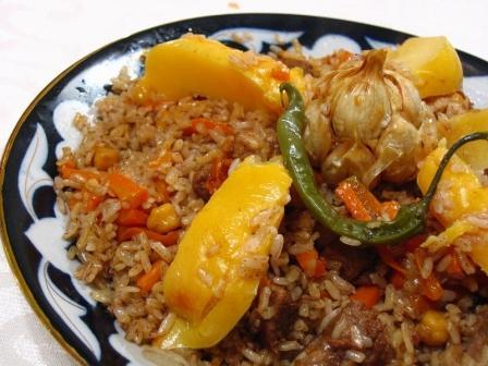 Плов с курицей и бараниной по-арабски Вторые блюда Пловы