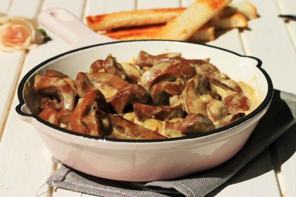 Почки в сметане Итальянская кухня