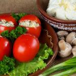 Помидоры фаршированные «Грибник» Из овощей Помидоры