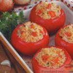 Помидоры, фаршированные рисом Закуски Из овощей