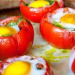 Помидоры, фаршированные яйцами Закуски Праздничный стол