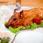 Поросенок жареный Вторые блюда Праздничный стол