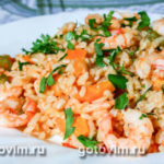 Пряные креветки с рисом Блюда из рыбы Вторые блюда