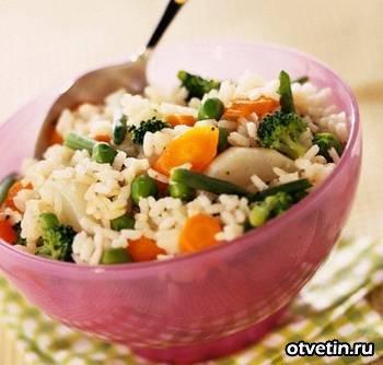 Рис на сковороде по-калифорнийски
