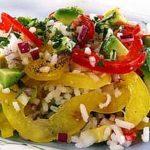 Рисовый салат со сладким перцем Русская кухня