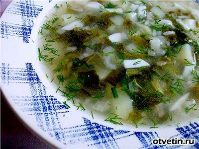 Рисовый суп со щавелем