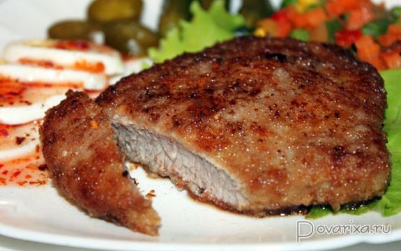 Ромштекс из говядины Блюда из мяса Вторые блюда