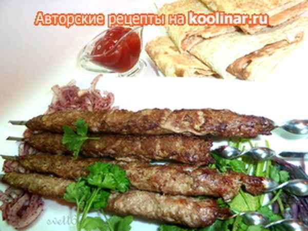 Рубленый шашлык Вторые блюда Шашлыки
