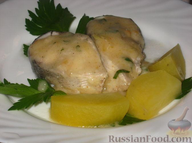 Рыба отварная с картофелем Рыбацкая кухня