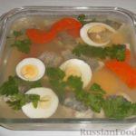 Рыба заливная с лимоном и морковью Немецкая кухня