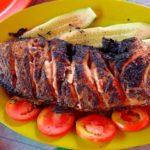 Рыба, жаренная на вертеле Грузинская кухня